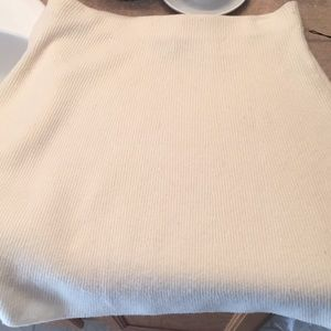 Adrienne Vittadini sweater skirt cream large NWT